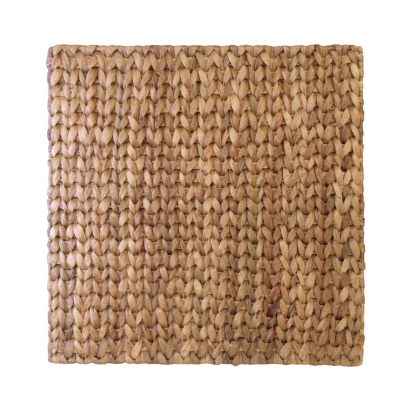 Square Straw Placemat (Set of 6) by Leila's Home Living