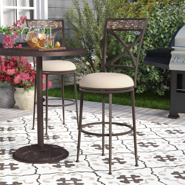 Howland 30 Swivel Indoor/Outdoor Patio Bar Stool by Red Barrel Studio