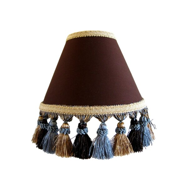 Butterscotch Sundae 7 H Fabric Empire Lamp shade ( Screw on ) in Brown