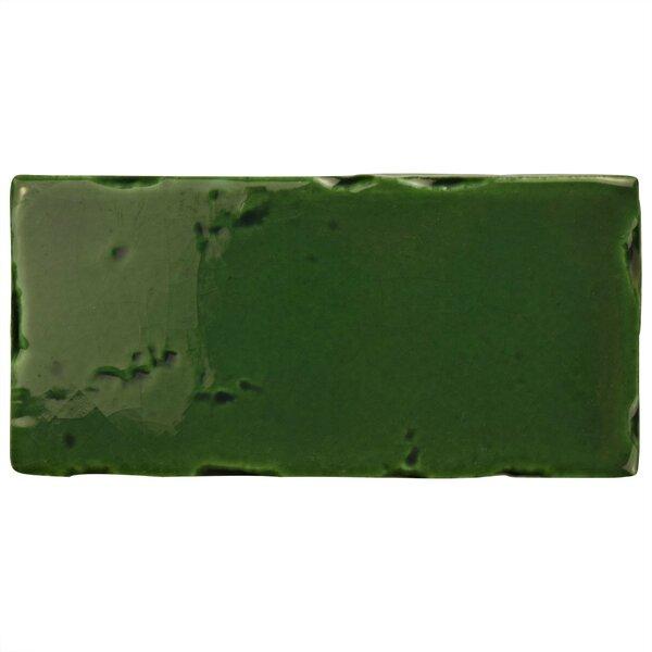 Frisia Subway 2.5 x 5.13 Ceramic Subway Tile in Green by EliteTile