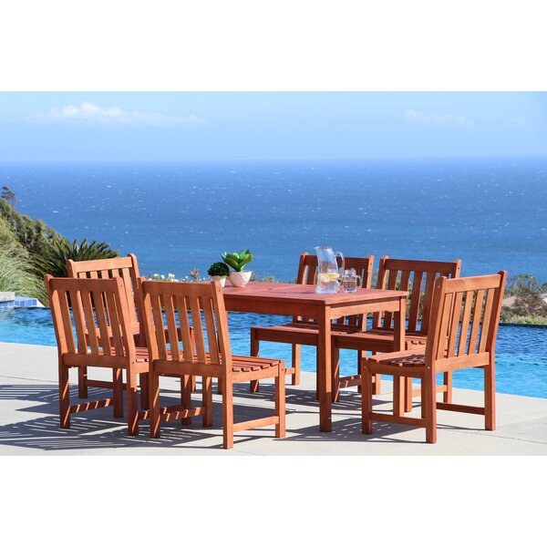 Amabel Classic 7 Piece Wood Dining Set by Beachcrest Home