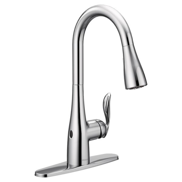 Arbor Pull Down Touchless Single Handle Kitchen Faucet with MotionSense™,Power Clean™, Reflex™ by Moen