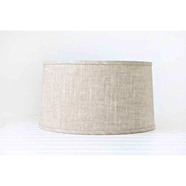10 H Linen Drum Lamp Shade in Off-White