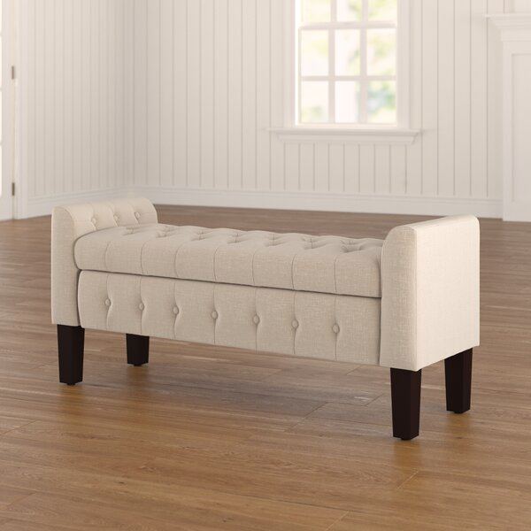 Throggs Upholstered Storage Bench By Charlton Home by Charlton Home Sale