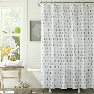 Reviews Pineapple Pinstripe Cotton Shower Curtain ByTommy Bahama Home