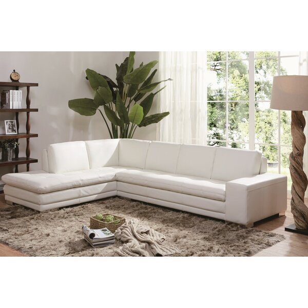 Brigman Leather Sectional by Orren Ellis