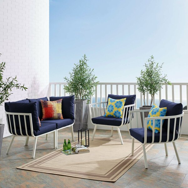 Montclaire Outdoor Patio Sectional with Cushions by Brayden Studio