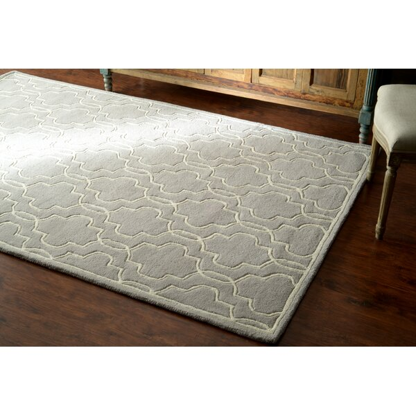 Venice Hand-Tufted Wool Gray Area Rug by nuLOOM