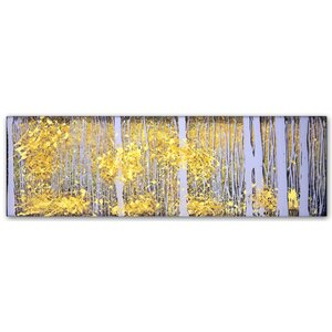 PanorAspens Lavender Forest by Roderick Stevens Painting Print on Wrapped Canvas by Trademark Fine Art