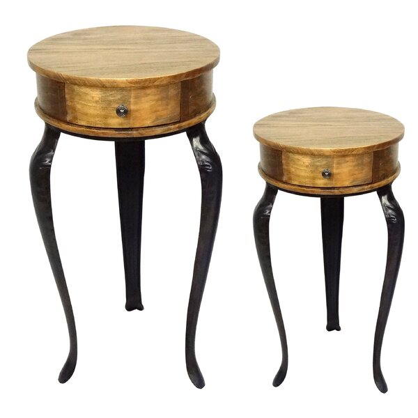 2 Piece End Table Set by Jeco Inc.