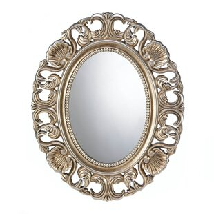Zingz & Thingz Gilded Oval Wall Mirror