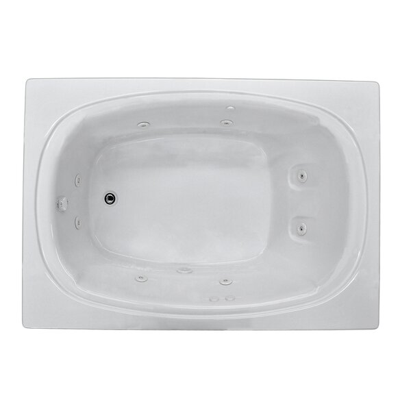 St. Lucia 71.5 x 47.63 Rectangular Whirlpool Jetted Bathtub with Drain by Spa Escapes