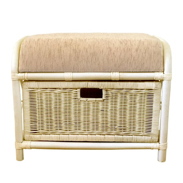 Metz Rattan Pouf by Bayou Breeze