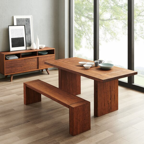Vandt Solid Wood Dining Table by Brayden Studio Brayden Studio