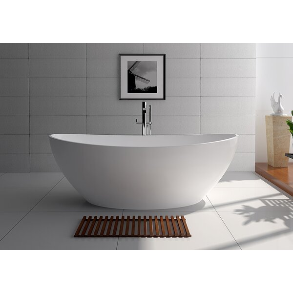 71 x 35.5 Freestanding Soaking Bathtub by Legion Furniture