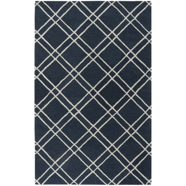 Dirks Hand-Tufted Wool Navy Area Rug by Charlton Home