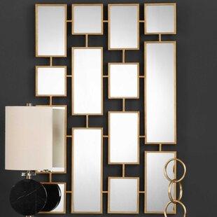 Brayden Studio Forged Iron Rectangle Accent Mirror
