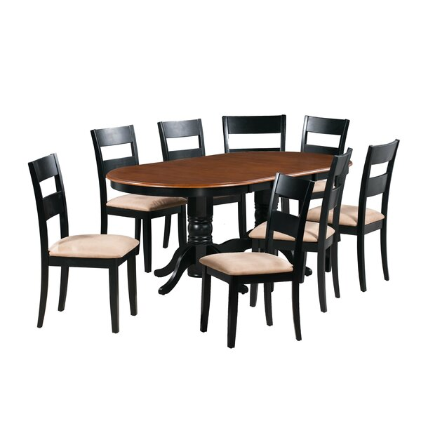 Dahlberg 9 Piece Extendable Solid Wood Dining Set by August Grove