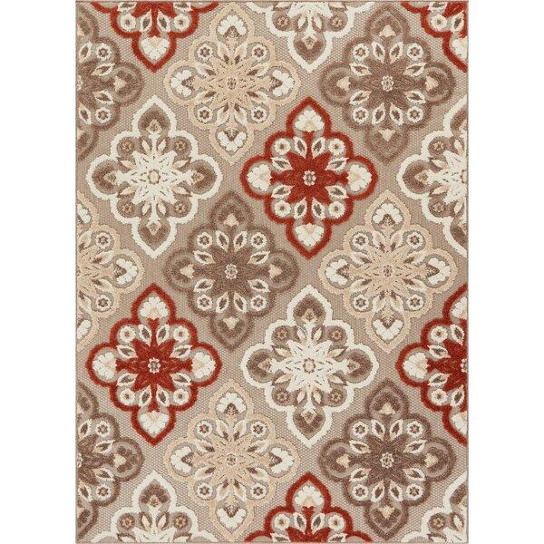 Dorado Devotion Modern Panel High-Low Beige Indoor/Outdoor Area Rug by Well Woven