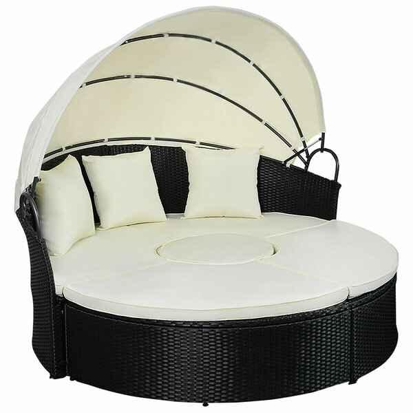 Samara Furniture Round Full Daybed With Mattress By Rosecliff Heights