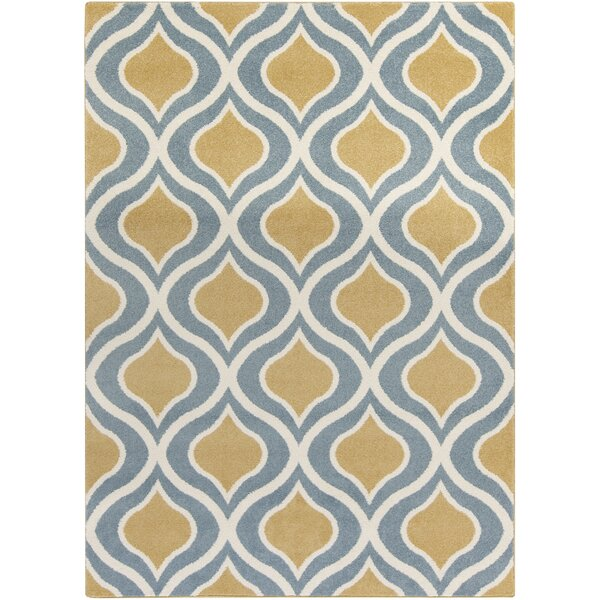 Eamor Gold/Slate Area Rug by Langley Street