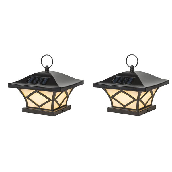 Solar 1-Light Fence Post Caps (Set of 2) by Winsom