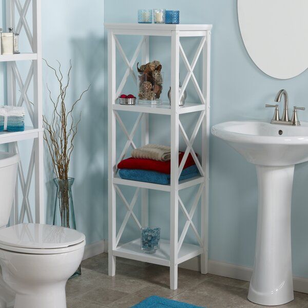 Nellis X-Frame 18.11 W x 53.86 H Bathroom Shelf by Beachcrest Home