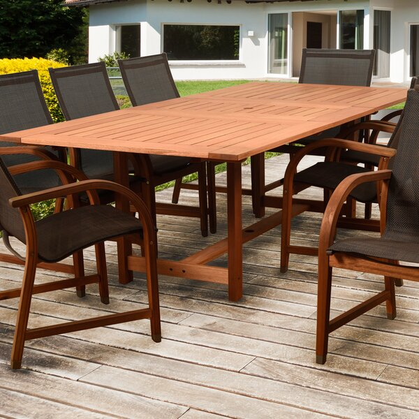 Arthen Extendable Solid Wood Dining Table by Darby Home Co