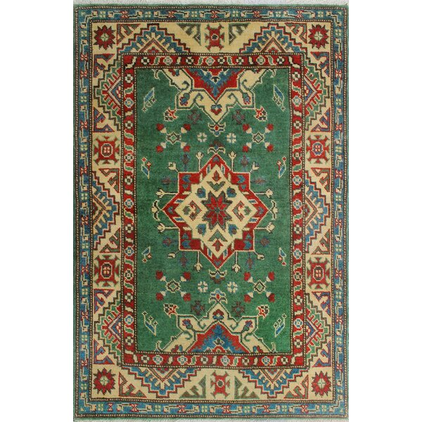 Sharpe Hand-Knotted Wool Green Area Rug by Loon Peak