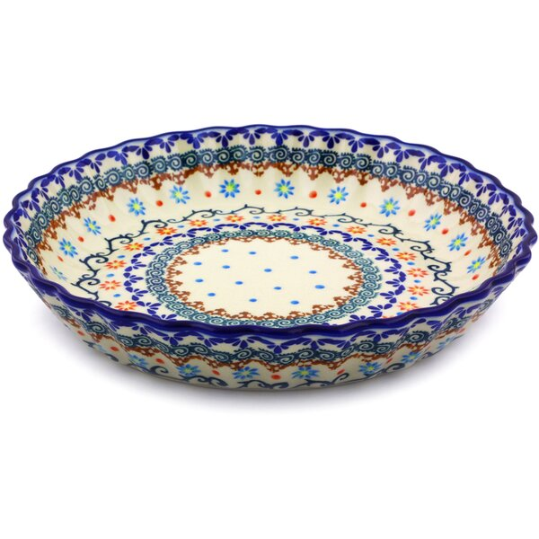 Non-Stick Polish Pottery Fluted Pie Dish by Polmedia