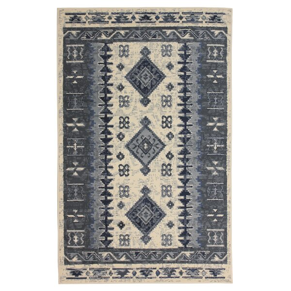 Mendez Gray/Beige Area Rug by Union Rustic