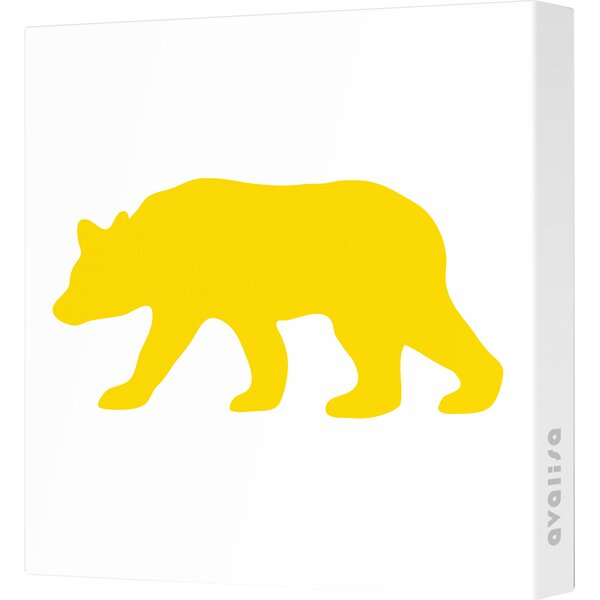 Silhouettes Bear Stretched Canvas Art by Avalisa
