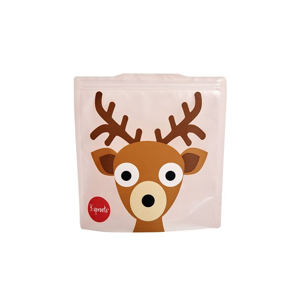 Deer Sandwich Bag (Set of 2) by 3 Sprouts