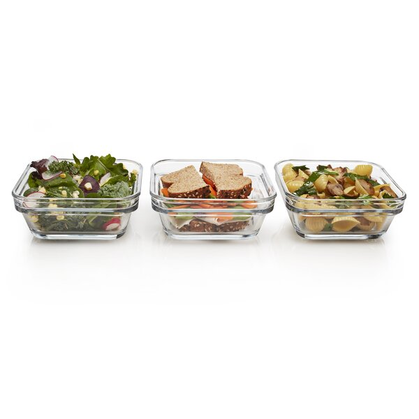 Stack It Stackable 3 Container Food Storage Set by Libbey