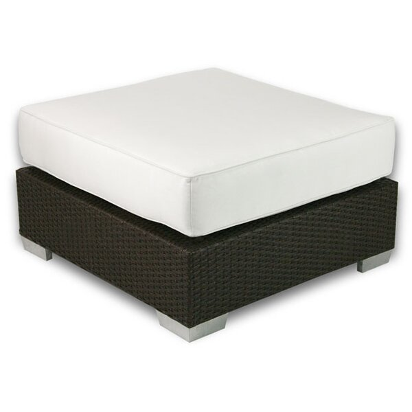 Sienna Outdoor Ottoman with Sunbrella Cushion by Axcss Inc.