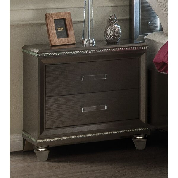 Sanabria 2 Drawer Nightstand By Everly Quinn