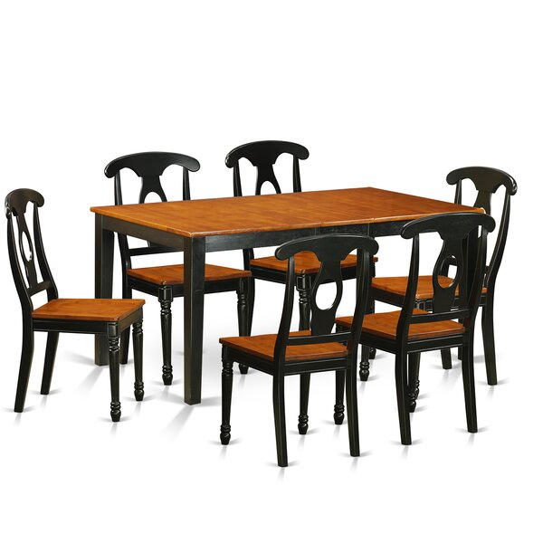 Pillar Traditional 7 Piece Wood Dining Set by August Grove