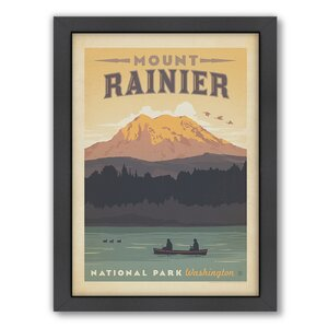 National Park Mount Rainier Framed Vintage Advertisement by East Urban Home