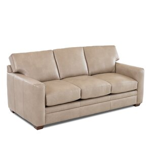 Carleton Leather Sofa Wayfair Custom Upholstery