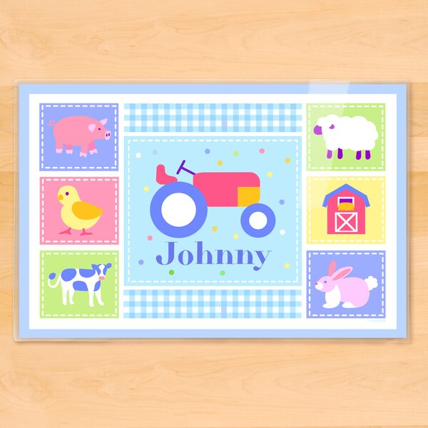 Country Baby Tractor Personalized Placemat by Olive Kids