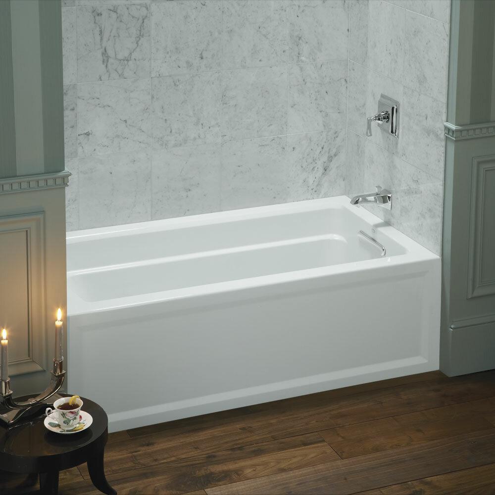 bathtub modern tub rectangle white left pensacola on alcove acrylic drain