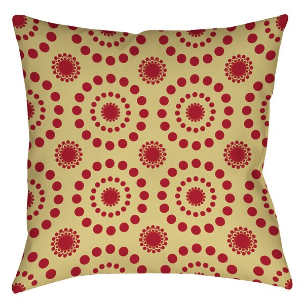 Tropical Breeze Patterns Indoor/Outdoor Throw Pillow by Manual Woodworkers & Weavers