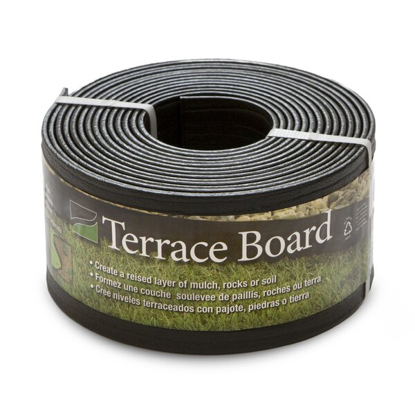 4 in. H x 20 ft. W Terrace Board Edging by Master Mark Plastics