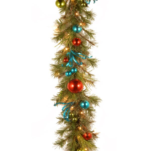 Decorative Pre-Lit Retro Garland by The Holiday Aisle