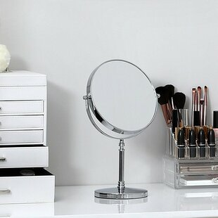 Best Choices Esters Tabletop Vanity Makeup/Shaving Mirror By Rebrilliant