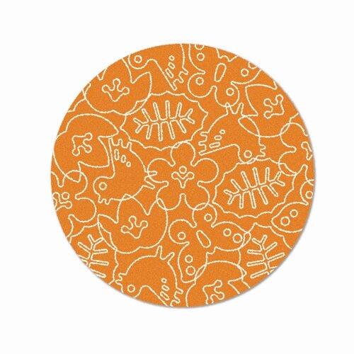 Season Persimmon Orange/White Area Rug by notNeutral