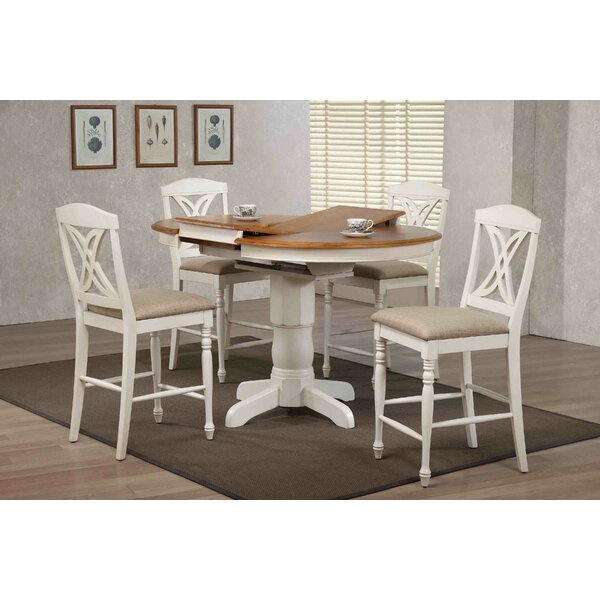 Currey Butterfly Back Upholstered Counter Height 5 Piece Pub Table Set by Red Barrel Studio Red Barrel Studio