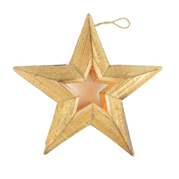 Pre-Lit Battery Operated LED Country Rustic Woden Star Christmas Decoration by Northlight Seasonal
