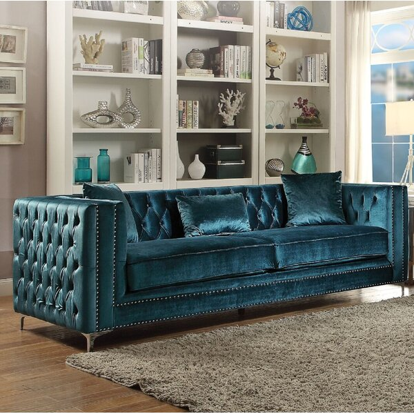 Emmer Chesterfield Sofa by Everly Quinn