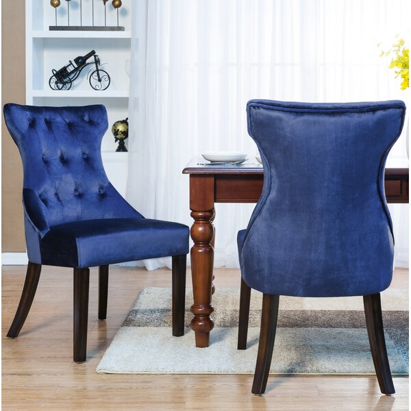 Delfin Button Tufted Upholstered Dining Chair (Set Of 2) By Darby Home Co